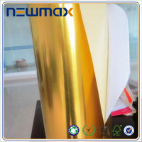 High Glossy Golden Self Adhesive PVC sticker