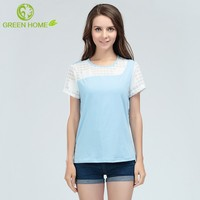 breathable material fashion maternity t-shirt