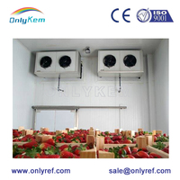 industrial fruit and vegetables chiller, walk in box cooler for beerpre fabricated rooms