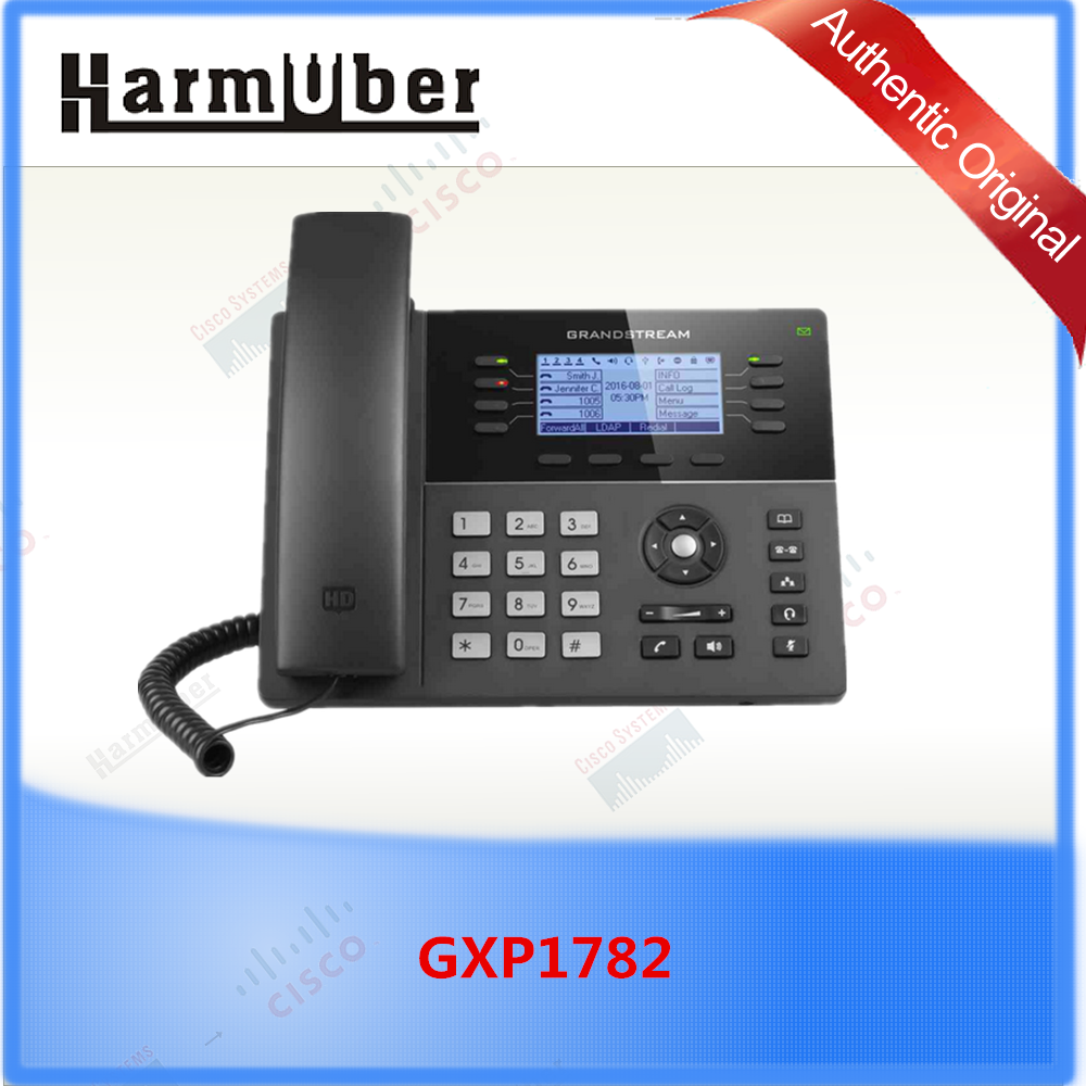 Grandstream VoIP SIP Phone GXP1782, Equipped with 8 lines, 4 SIP accounts