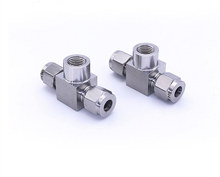 Factory direct stainless steel ss 316 3/4 double ferrule T connector union tee fitting