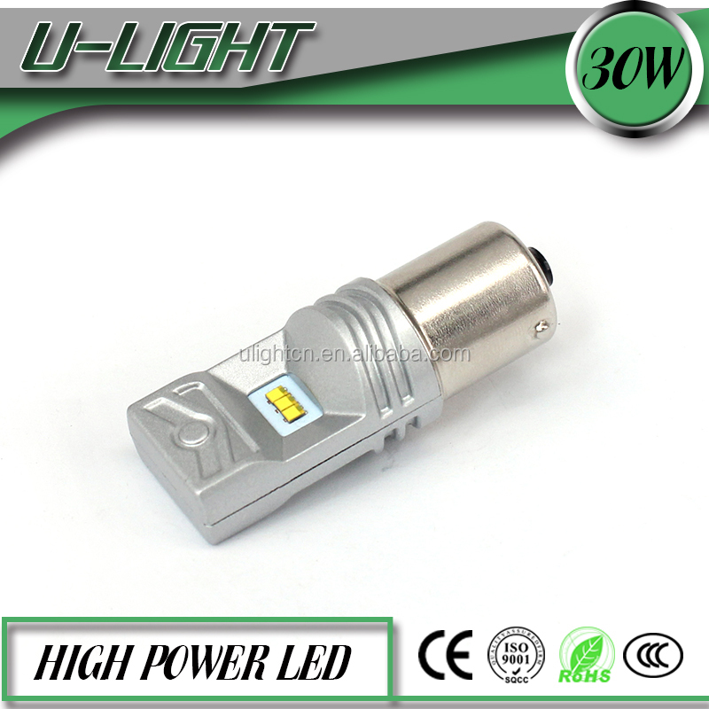 Newest 30w 800lm philip chip led auto lights bulb 12v-24v BA15S,BAU15S, 1157(BA15D,BAY15D) 1156 turn signal bulb for cars