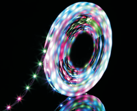 double line multiple color ribbon waterproof 3528 led strip ip65