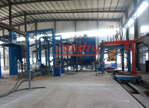 Foundry machinery vacuum process-- V process casting plant