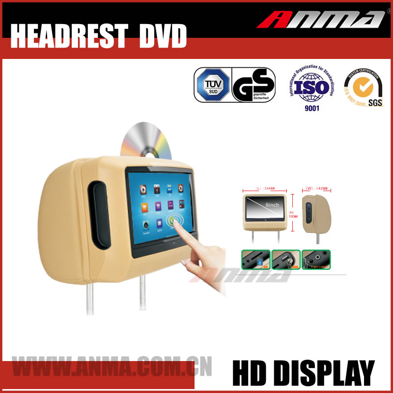 car cassette and cd headrest dvd player and gps