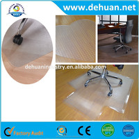 Transparent Chair Mat with Lip for Carpet Floors