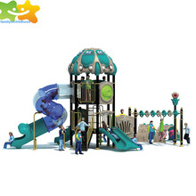 Factory cheap wholesale theme park outdoor playground plastic spiral slide