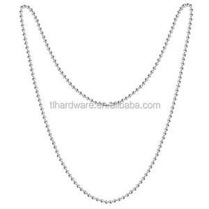 316 Stainless Steel Chain Jewelry Necklace Silver Tone Ball Chains With Lobster Claw Clasp