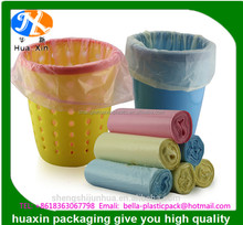 Starseal hdpe plastic garbage bags in roll red with printing