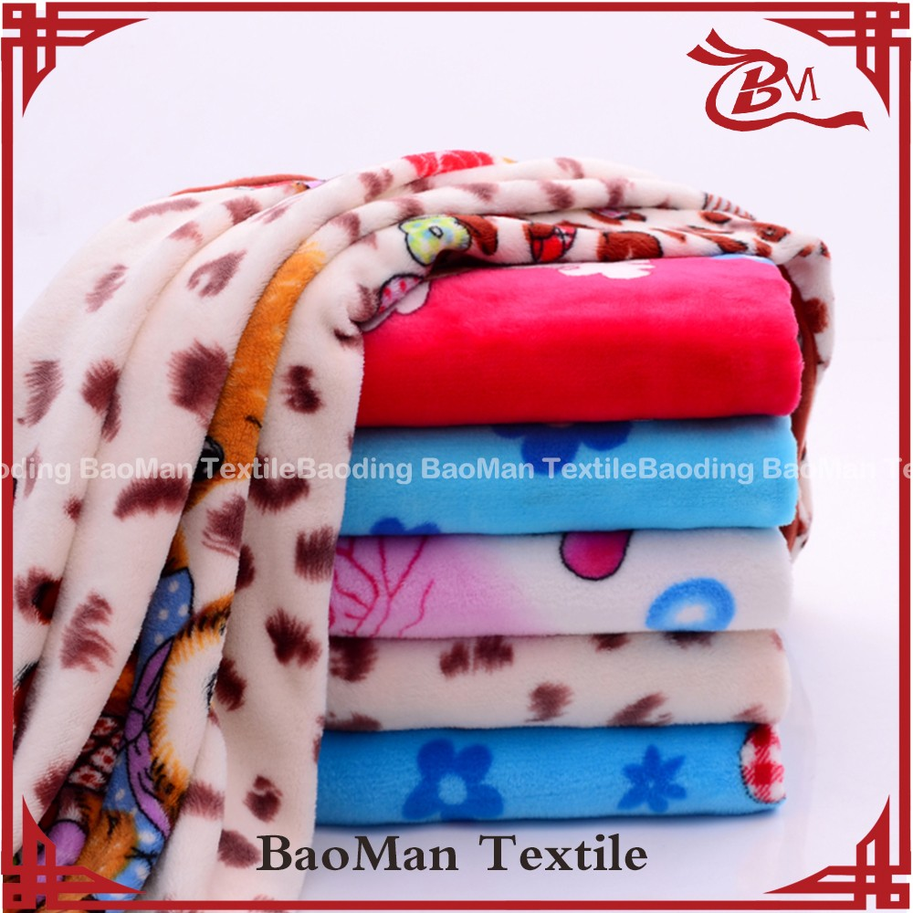 Baoman Wholesale high density 100 pure cotton blanket special Children's gift