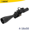 Gun parts combination MarcoolEST 4-16X50 AOIRGBL RIFLESCOPE with 4 reticle green & red dot scope and 3 side base ring mounts