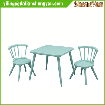 Playroom Furniture Wooden Kids Table and Chair