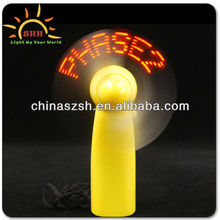 LED mini message fan for summer promotion gifts