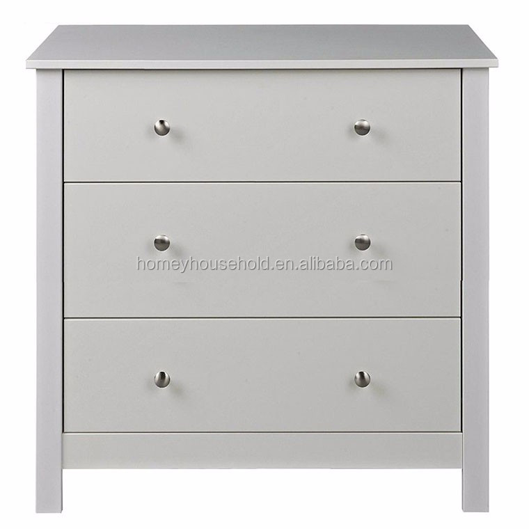 Simple Design Cheapest White MDF Wooden Used Chest Of Drawers