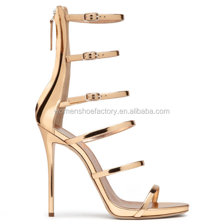 factory wholesale women thin high heel ankle sexy roman ladies sandals