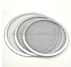 Customized 6 to 24 inches Aluminum flat mesh pizza screen