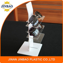 JINBAO top grade low price sunglasses display white acrylic plexiglass columns