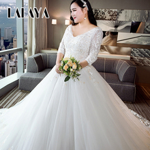 New winter Korean luxury A word shoulder Pregnant women Long tail Wedding Dresses