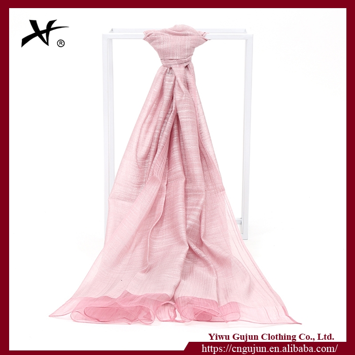 2017 Latest product 30% silk 70% linen soft five colors wholesale fashion shawl scarf