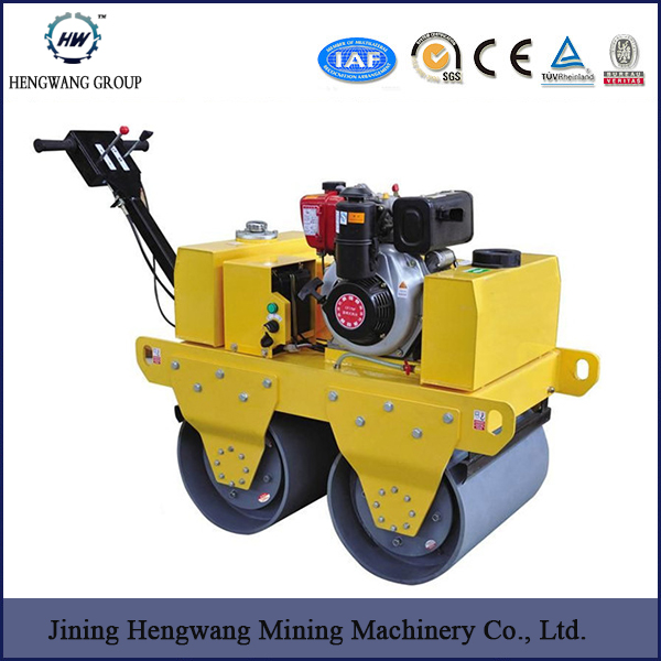 Walking behind single cylinder vibratory road roller