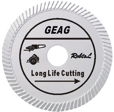 Slant Turbo Diamond Blade for Long Life Cutting Hard and Dense Material item ID: GEAG