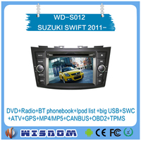 Top quality car audio for SUZUKI SWIFT 2011 2012 2013 2014 2015 2016 dvd player with gps android system support wifi swc ipod ce