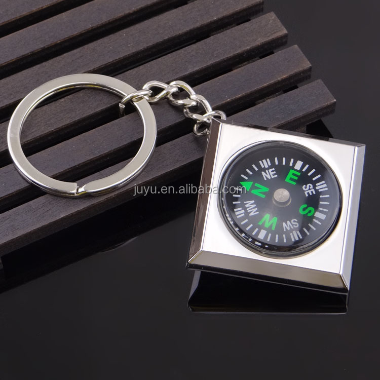 2017 new Promotional Custom Metal Compass Keychain