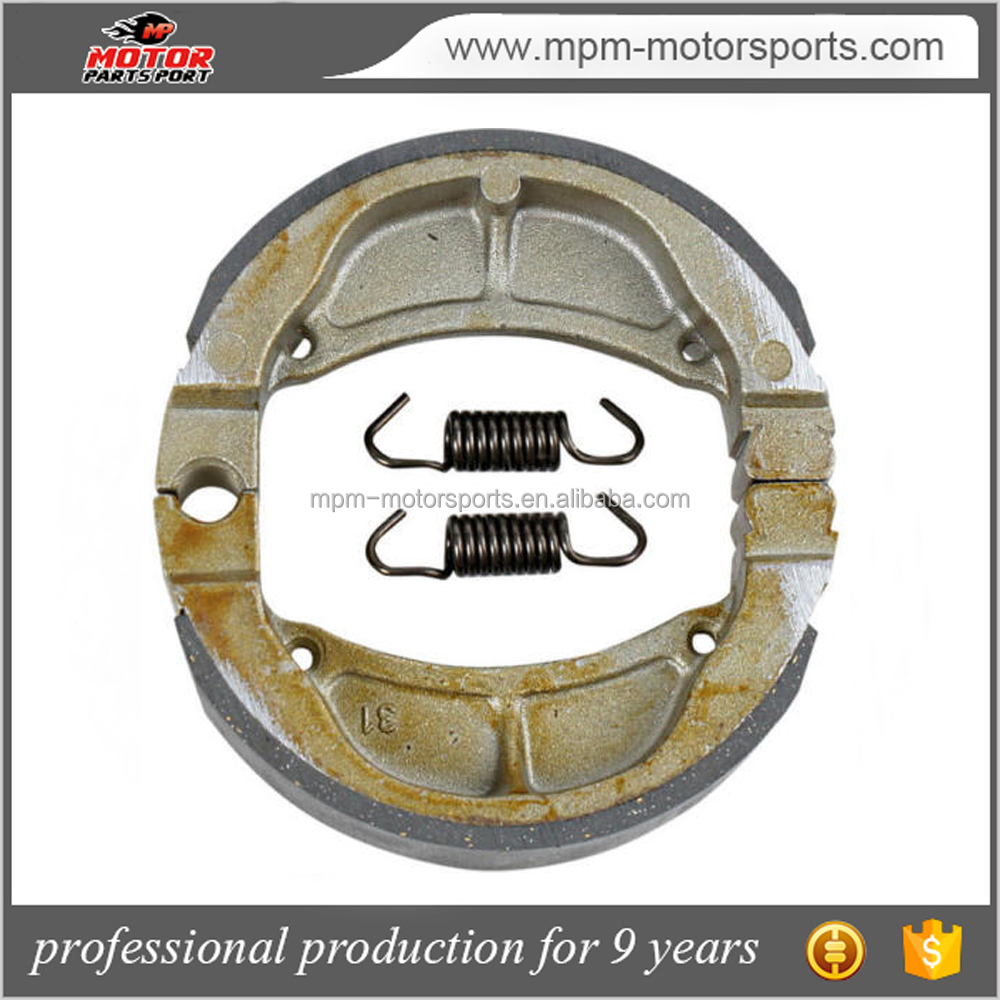 motorcycle front brake shoes manufacture for Kawasaki KLX