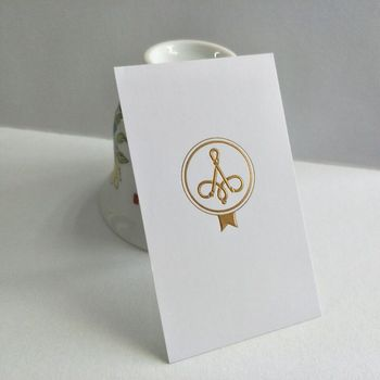 Hign End Deboss/Emboss Business Card Custom Gold Foil Cards Visit cards