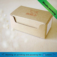 Custom kraft cardboard paper cup cake box / Recyclable kraft cake box