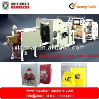 Roll feed square bottom paper bag machine