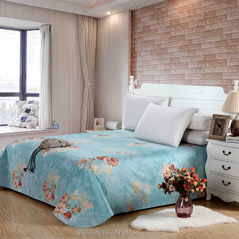 new design 100% cotton fitted bed sheet set for home