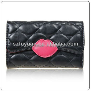 2017 high quality lady classical designe pu wallet wholesale