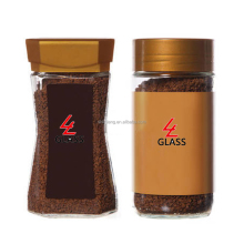 Shanghai Linlang Top Factory supplier varied mould shape glass coffee bottle with different plastic cap
