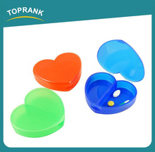 Toprank Walmart Supplier Wholesale Professional Colourful Heart Shape 7 Day Pill Case Holder Easy To Carry Plastic Pill Box