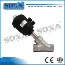 Stainless Steel Pneumatic Control Sanitary Angle Seat Valve