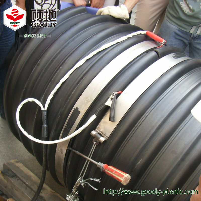 Drainage HDPE corrugated steel pipe , double wall corrugated pipe