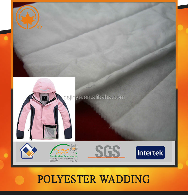Polyester Nonwoven Padding Fabric For Bedding, Qnilt, Garment Filling With PP Coating