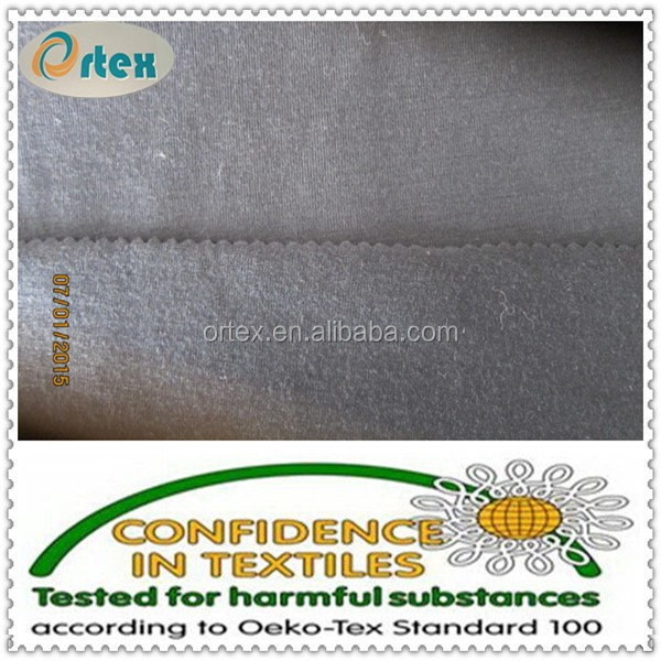 spun polyester ,polyester spandex single jersey fabric