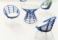 outdoor stackable french bistro rattan table and chair