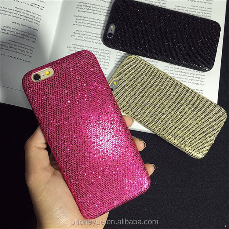Sparkling Bling Shinning Glitter Skin Plastic Hard Back Cover Phone Case for iPhone 5/6/6 Plus