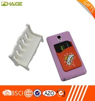 customized printing silicone cell phone stand