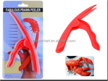 Useful plastic shrimp and prawn shell peeling tool / prawn peeler tool