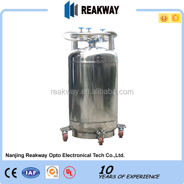 YDZ-100 Self-pressurization transportable lab biological liquid nitrogen dewar/liquid nitrogen cryogenic Aluminium Tank