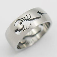 Wholesale Engraved Stainless Steel Hollow Scorpion