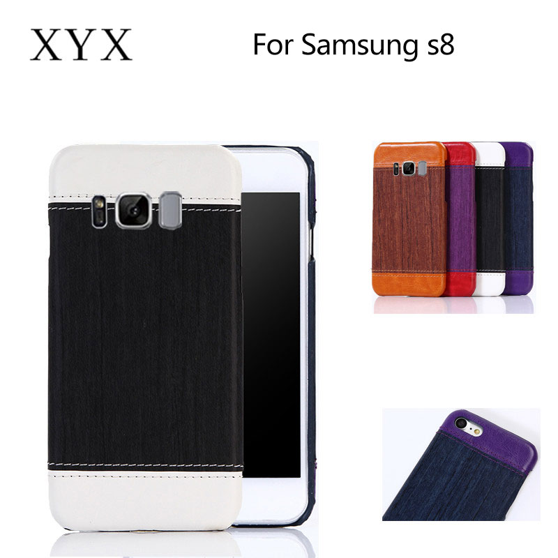 For samsung galaxy s8 case with wood <strong>grain</strong> pattern,matched color phone case for samsung galaxy s8