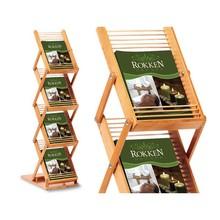 3 Tiers Bamboo Literature Display Holder