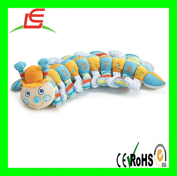 promotion digital education plush counting worm toy for kids