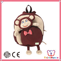 GSV certification lovely plush fabric filled kids children backpacks