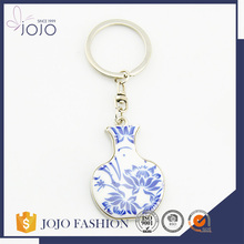 Chinese traditional jewellery mini keychain blue and white porcelain